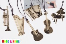 New Creative musical instrument designs Metal Bookmark Book marks Wholesale