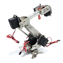 High Quality Stainless Steel Manipulator DIY robot6DOF Rotating Assembled Robot Arm With 6pcs Servo For Boys Toy Gift(China)