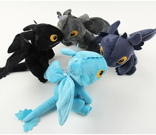 23cm Anime How to Train Your Dragon plush toys Toothless Night Fury Plush stuffed animal doll toy good kids gift(China)