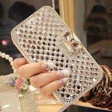 YeLun Doogee X70 X60L X60 L Bling Crystal Diamonds PU Leather Flip Slots Stand Wallet Case Cover Mini Handbag