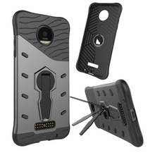 360 Degree Rotatable Stand Armor Cover for Motorola Moto Z Droid Cool Case Sniper Hybrid Silicone + PC Phone Cases
