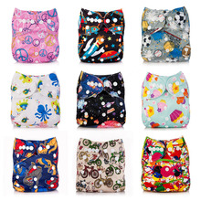 Baby Children Cartoon Waterproof Leak-Proof Quick-Drying Reusable Baby Diapers Waterproof Cloth Nappies Washable Diapers Bamboo