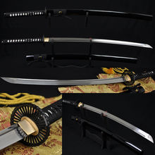 Damascus Steel Japanese Samurai Full Tang Functional Sword KATANA Oil Quenched 8192 Layers 1060 High Carbon Folded Steel Sharp(China)