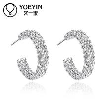 2016 New coming 925 sterling silver stud earring for women ear jewelry lady girl earring gift(China)
