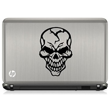 "Car Styling Hardcore Skull Automobile Car Window Decal Tablet PC Sticker Automobile Window Wall Laptop Notebook (5.5"" inches, )"