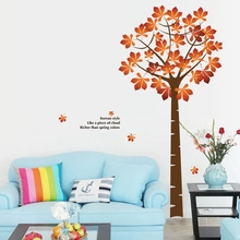 large golden maple tree wall stickers decals green tree adhesive wallpaper home living room bedroom TV Background window decor