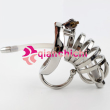 Buy Stainless Steel Male Chastity Device Cock Cage Virginity Lock Penis Lock Cock Ring Chastity Belt