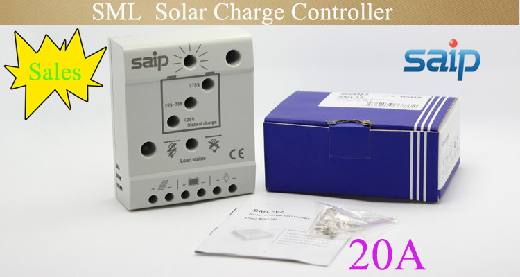 Low Shipping Cost Price Hot 12/24V Fully Electronocal Efficient LED PWM Solar Street light Charge Controller Circuit SML 20A(China (Mainland))