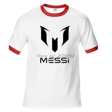 Messi Man T-Shirt Raglan Sleeve Diy Homme Print Logo Tshirt T Shirt Men Printed Cotton Tops Tees O Neck Skate High Quality(China)