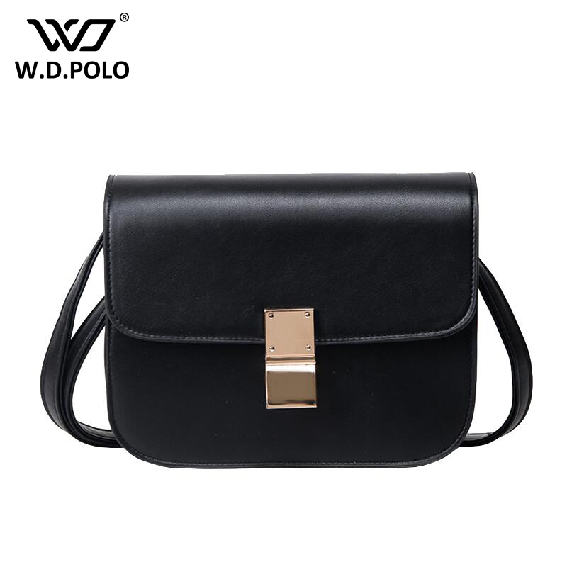 WDPOLO Hot Design Womens PU Leather Patchwork Black Classic Bag Super Chic Handbag and Buckle Open Girl Crossbody Bags z1091<br>