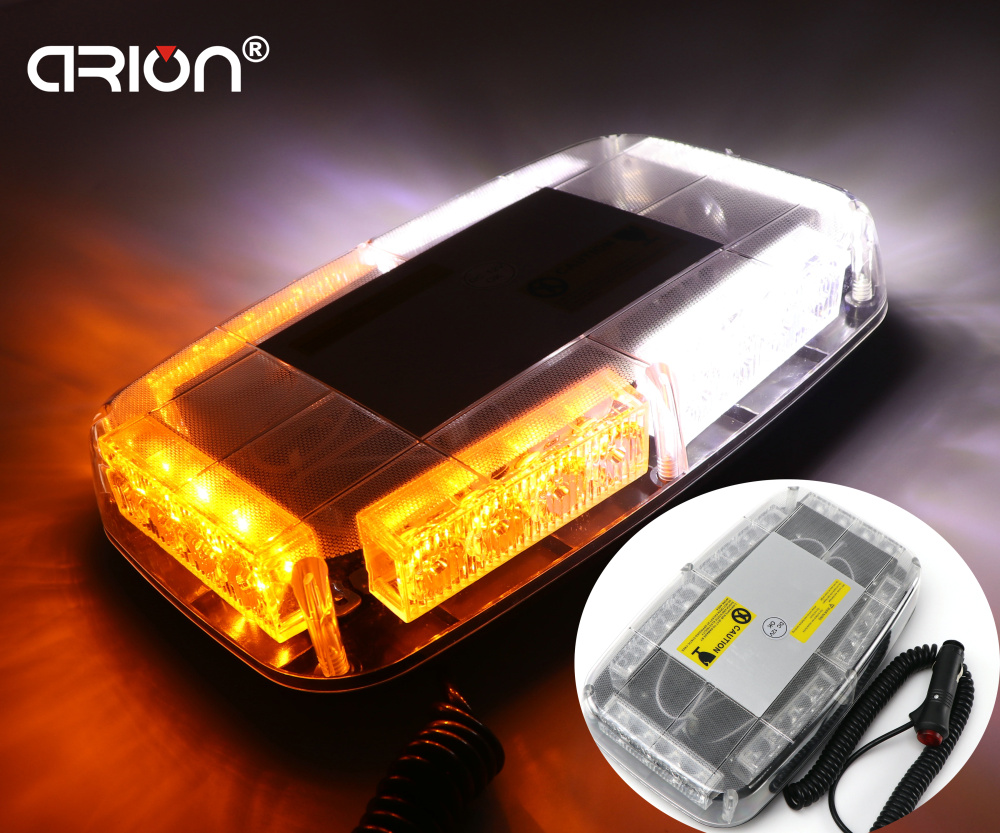 New 24 LED 24W Car Strobe Warning Amber White Light Fireman Policeman Flashing Truck Emergency Storbing Fire Flash Lightbar Lamp(China (Mainland))