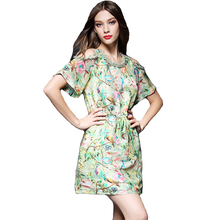 Buy 2017 O Neck New Summer Female Dress Short Sleeve Floral Printed Sexy Dresses Bead Women Mini Dress Vestidos L7402 for $32.28 in AliExpress store