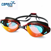 Copozz New Professional Anti-Fog UV Protection Adjustable Swimming Goggles Men Women Waterproof silicone glasses adult Eyewear(China)