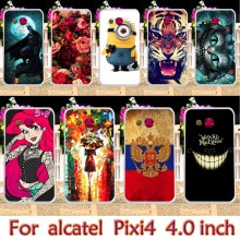 Plastic Phone Case For alcatel OneTouch Pixi 4 4.0 inch OT4034 dual-SIM 4034D 4034E 4034F 4034N 4034E single-SIM Cover Housing