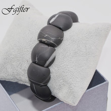 100% new fashion men natural stone bracelet black bianshi beads bian stone bracelet /healthcare(China)