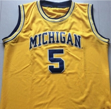 Jalen Rose #5 Michigan State Basketball Jersey Embroidery Stitched Custom any Number and name