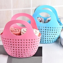 1pcs Buy Plastic hand basket, Bath Basket, storage baskets, shopping basket, free shipping(China)
