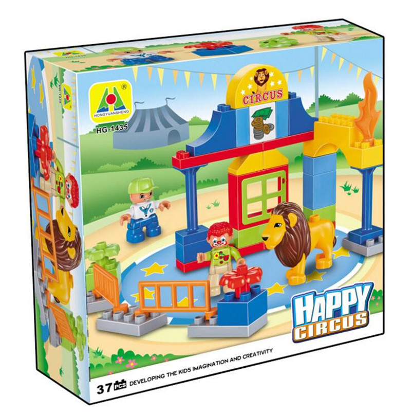 Emi large particles 1435 toy circus lion kids assembled large childrens educational toys circus blocks P298<br><br>Aliexpress