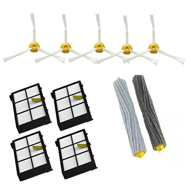 11Pcs/Lot Tangle-Free Debris Extractor Replacement Kit For iRobot Roomba 800 900 series 870 880 980 Vacuum Robots accessory part<br><br>Aliexpress