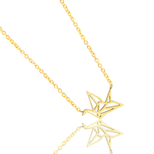 GORGEOUS TALE Best Friend Birthday Gift Fashion Stainless Steel Pendants Gold Chain For Men Cranes Necklaces Origami Jewelry(China)