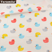 100% Cotton Fabric Lovely Color Ducks Designs Twill Fat Quarter Home Textile Material Bed Sheet  Patchwork Quilting TERAMILA
