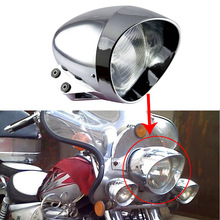 "6.5"" Chrome Bullet Headlight Fits For Harley cruise Honda Steed Shadow Motorcycle"