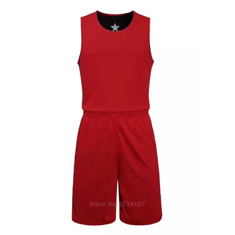 17 Men Reversible Basketball Set Uniforms kits Sports clothes Double-side basketball jerseys DIY Customized Training suits 28