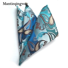 Mantieqingway Flower Dot Pocket Square Men Fashion Paisley Casual Orange Square Pocket Handkerchiefs for Men Suit Handkerchief(China)