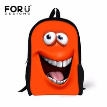 16 Inch Smiley Backpacks to School Teenage Girls Kids Funny Design Back Pack Bags for Book Kawaii Colors Emoji Prints Backpack(China)