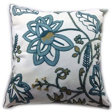 Decorative Cotton Canvas Crewel Embroidery Cushion cover,Beautiful Spring pillow Case Bedding Sofa Chair Outdoor(China)