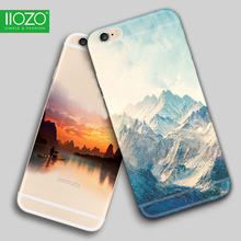 Landscape Scenery Case For iphone7 6 6S plus Mountain Fishing Sea Trees Deer Cat Nature View Hard Back cover For iphone5 5S SE(China)