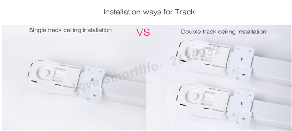 Original Dooya Super Quiet Electric Curtain Track for Xiaomi aqara Dooya KT82DT82 motor, Dooya Automatic Curtain Track System-2