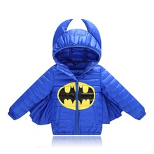 Baby Boys Jacket new Winter Jacket For Boys girls bat Hooded Down Jacket Kids Warm Outerwear Infant Boys Jackets & Coats