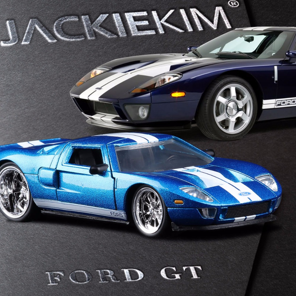 Free Shipping JADA 1:32 scale High simulation alloy model car Ford GT Fast & Furious high quality toy car models for kids gifts(China)