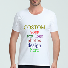 Mens T Shirt Custom Printed Personalized Designer Logo Text photos Party Clothing Advertising shirt Brand Short Sleeve Tees