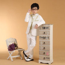6pcs/set Boys Formal Suits for Wedding White Blazer Dress Suits for Boys Prom Suits Boys Blazers(China)
