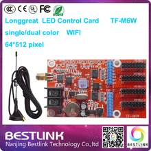 longgreat tf-m6w led control card supply 64*512 pixel single color wifi led controller card p10 led outdoor advertising board