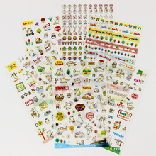 12 sheets/2 packs New Korea Creative Cartoon Cat Kawaii PVC Sticker Diary Scrapbook Label Decoration Stickers School Supplies(China)
