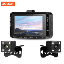 Zeepin DV168 1080P Dash Cam 2.7-inch 130 degree Dual Camera Motorcycle Driving Recorder with Front and Rear Camera(China)