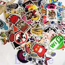 New 100 Pcs Unique Stickers Skateboard Vintage Sticker Laptop Luggage Car Decors(China)