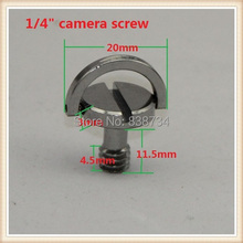 "10pcs chrome plated 1/4""captive screw folding D-ring adapter screw cam tripod monopod quick release plate"