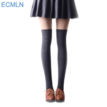 2016 New 3 Colors Fashion Women's Socks Sexy Warm Thigh High Over The Knee Socks Long Cotton Stockings Girl Hosiery