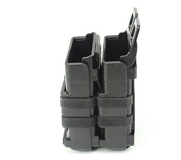 EFOSE New FAST DOUBLE Magazine Holster Pouch Set MOLLE SYSTEM(BK),7.62mm<br><br>Aliexpress