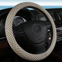 38CM Car Steering Wheel Cover for Mitsubishi Lancer Outlander Pajero Eclipse Zinger asx Covers Car-styling Accessorie Ice Silk(China)