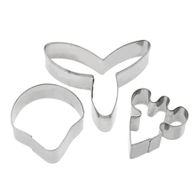 3pcs/set Butterfly Orchid Sugar Flower Cake Mold Fondant Biscuit Cookie Cutter Wedding Cake Decorating Tools DIY Bake Mould