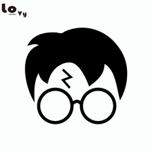 Classic Movie Harry Potter Silhouette Vinyl Wall Sticker for Kids Room Home Decor(China)