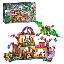Elves Secret Place parenting activity education model building blocks of the new year girls and children's toys compatible bale