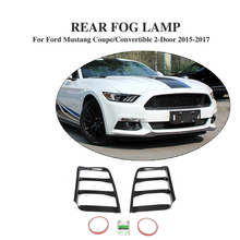 2PCS/Set Carbon Fiber Rear Bumper Light Tail Lamp Covers Guard Caps Fit for for Ford Mustang Coupe/Convertible 2-Door 2015-2017(China)