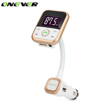 Onever Car Bluetooth FM Transmitter LCD Display Frequency Wireless Hands Free MP3 Player Radio Audio Modulator Remote Control