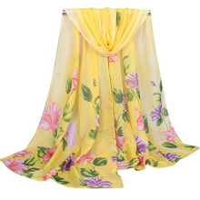 Beautiful cheap Fashion Women Long Soft Wrap Scarf Ladies Shawl Chiffon Scarf Scarves ponchos capes cachecol mulheres sjaaltjes